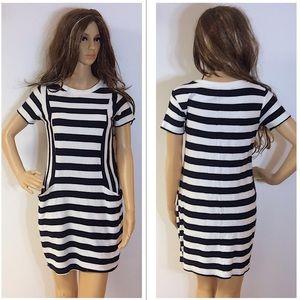 ZARA FALL/WINTER COLLECTION NAVY/WHITE DRESS